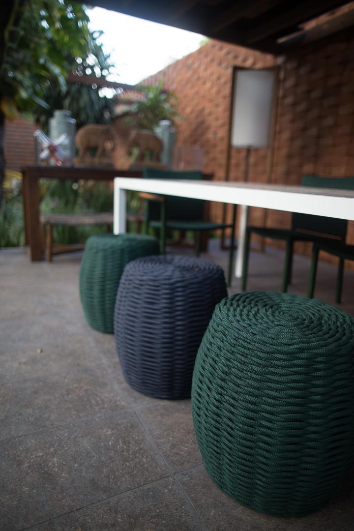Tidelli - Casa Cor Paraíba 2017 - Puff Marina Verde Musgo e Azul Marinho