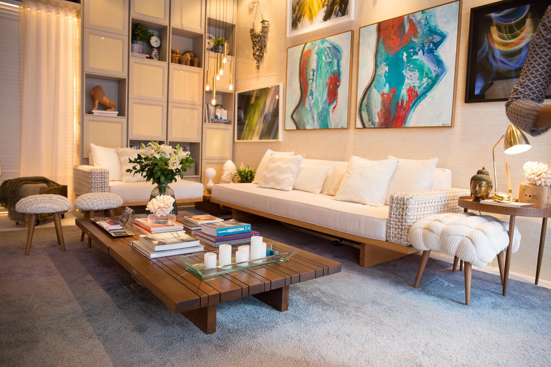 Tidelli - Casa Cor Pernambuco - Sofa Oslo e Mesa de Centro Madeira Fusion branco