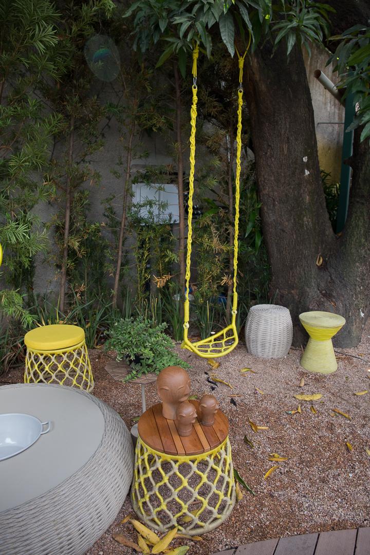 elli - Casa Cor Pernambuco - Balanço, Poltrona e Puff Painho Amarelo