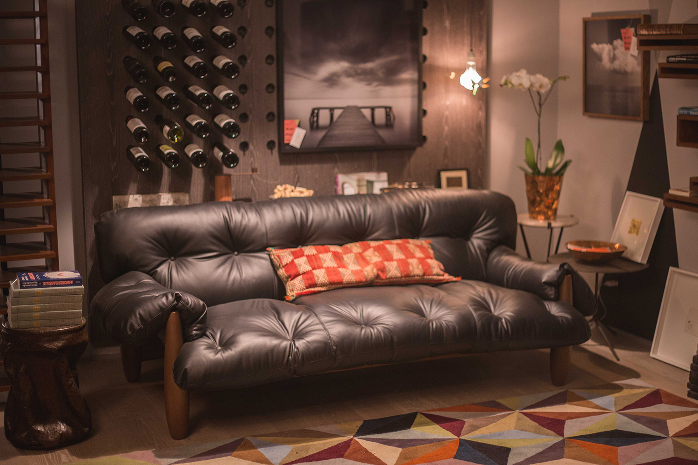 sofa-mole-sergio-rodrigues-espaco-a-couro-preto-casacor-são-paulo