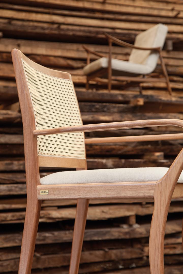 Coleção Sierra Brasilidades - Cadeira Madeira Palha