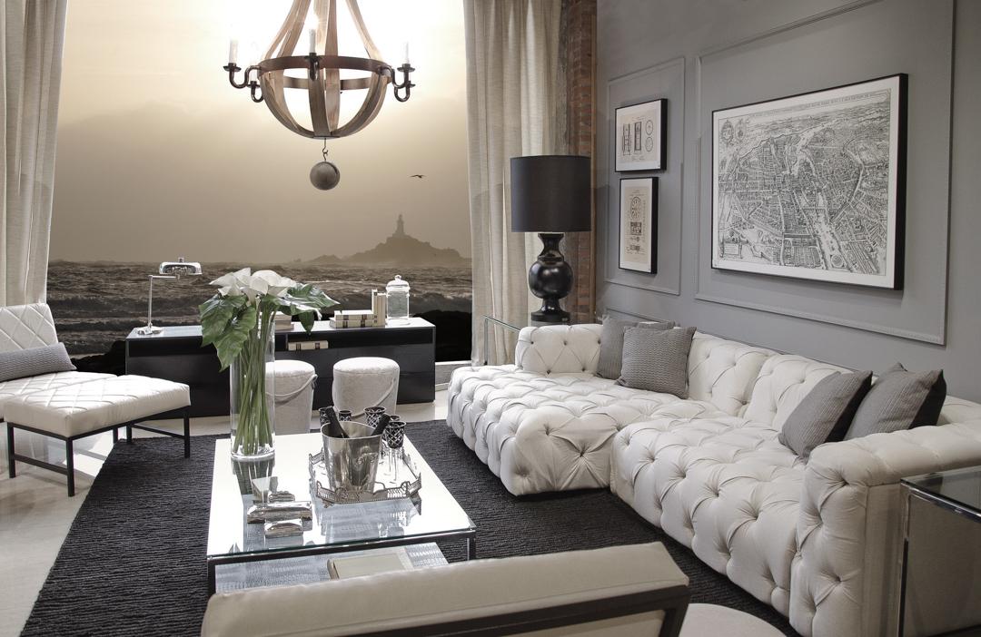 sierra-sofa-capitone-branco-mesa-centro-vidro-abajour-preto